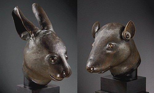 BRONZE ZODIAC ANIMAL HEADS